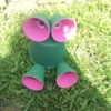 Finished frog garden decoration.