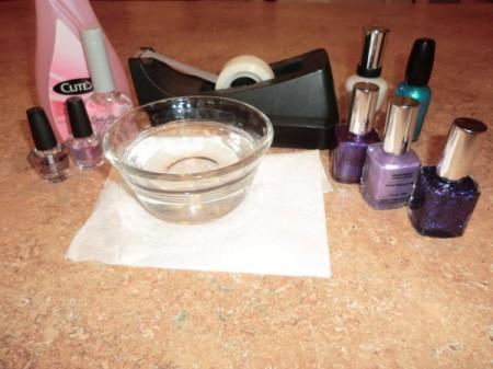 tie-dye nail supplies