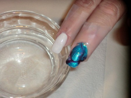 tie dyed nail