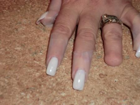 taped nails
