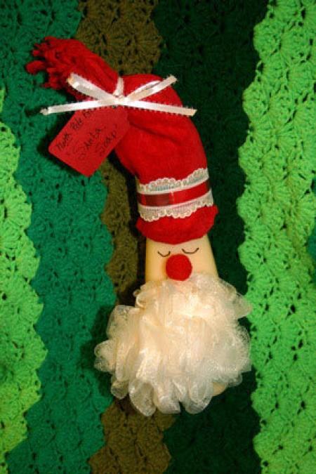 Santa decorated soap.