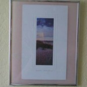 Frame with two postcards.