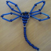 Blue beaded dragonfly.