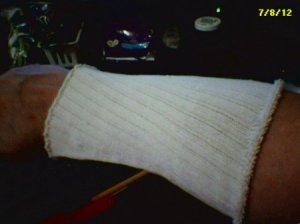 sock over arm