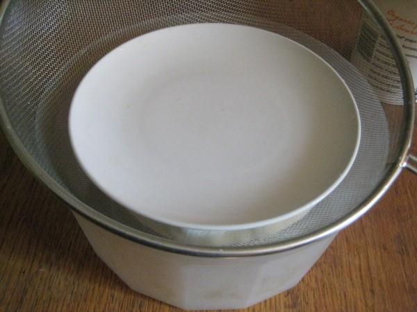 Straining Yogurt Through Cheesecloth