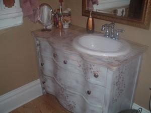 Making a Bathroom Vanity from an Old Dresser | ThriftyFun on bathroom space savers, bathroom storage, bathroom fittings, bathroom sinks product, bathroom sink tops, bathroom remodel, bathroom caddy, bathroom toilets, bathroom tubs, bathroom shelf, bathroom furniture, bathroom doors, bathroom makeovers, bathroom tile, bathroom vanity product, bathroom window film, bathroom ideas, bathroom hampers, bathroom vanities, bathroom chest of drawers,