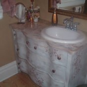 Converted Dresser Into Bathroom Sink Stand