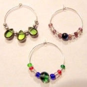 Three examples of finished charms.