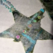 Felted star.
