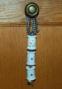 Snowman spool ornament.