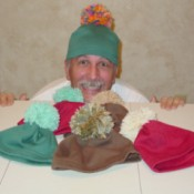 A hat made from leftover fleece