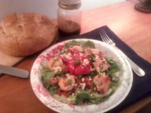 Delicious looking shrimp salad.