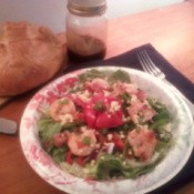 Delicious looking shrimp salad.