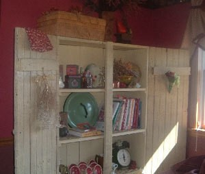Painted recycled cupboard.
