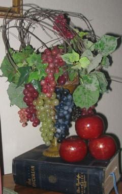 Decorative grape arrangement.