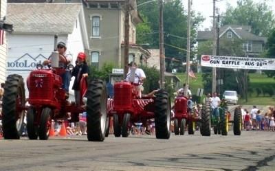 Tractors in Memorial Day Parade