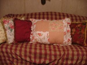 PIllow Shams on Sofa