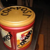 Coffee can composting