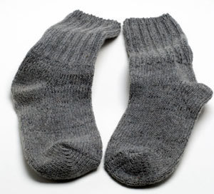 Pair of gray wool socks