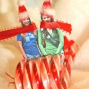 Candy Cane Christmas Sleigh