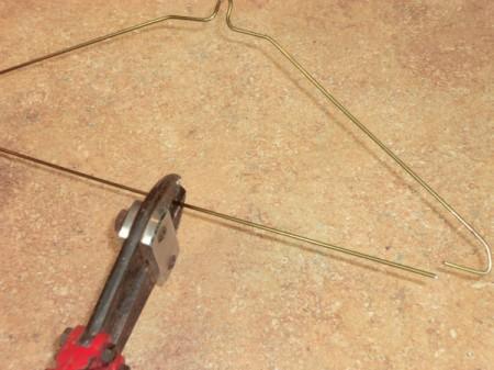 cutting coat hanger