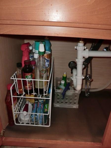 Wire organizer for under your sink.