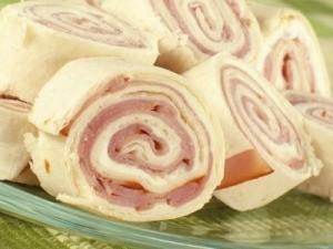 Ham tortilla pinwheels