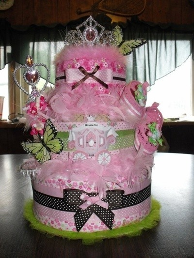 Tip: Craft: Princess Baby Shower Diaper Cake