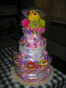 Love Bug Diaper Cake