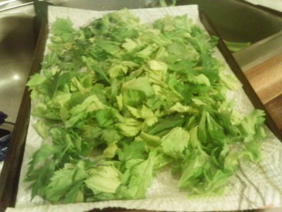 Dry Your Own Celery Leaves