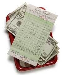 Bill For Meal with Cash
