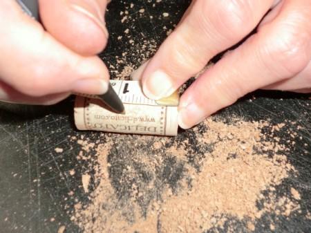 cut cork in half