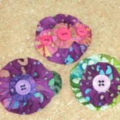 Three barrettes made for project.