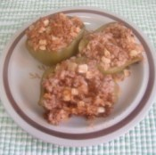 Stuffed Green Peppers on a plate.