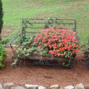 Flower Bed Glider Filled With Flowers