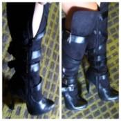 Knee boots.