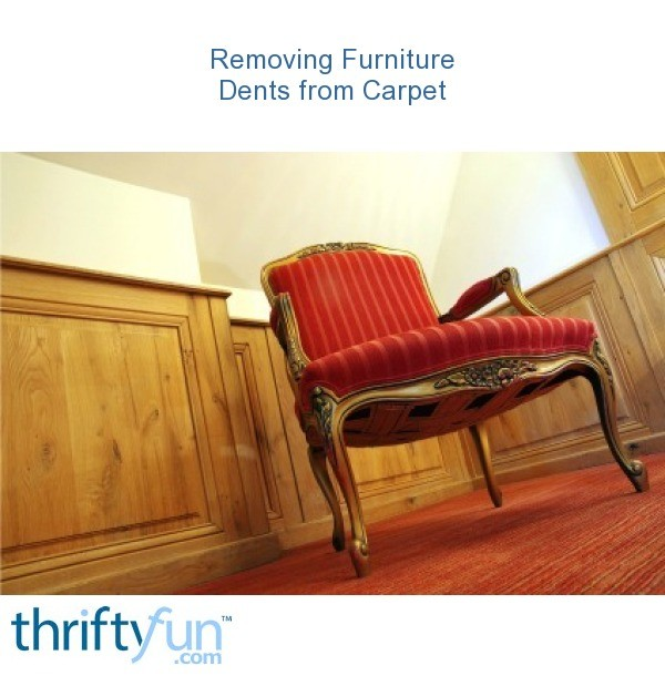 Removing Furniture Dents from Carpet