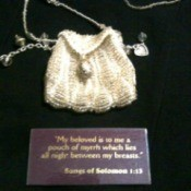 Myrrh bag with scripture on card.