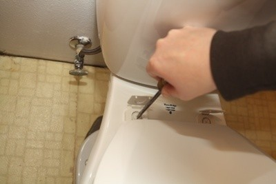 Attach Toilet Bowl Lid