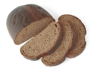 Loaf of Rye Bread on White Background