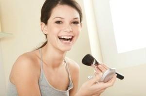 Girl Applying Homemade Makeup