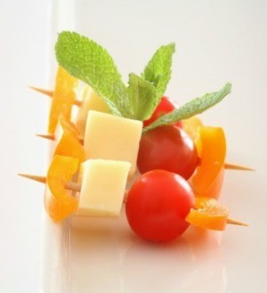 Cheese and Tomato Snack