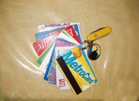 Use a keychain for store cards.