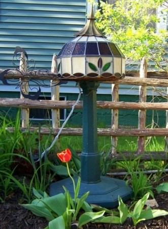 Stained Glass Yard Light
