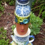 Recycled Garden Totem