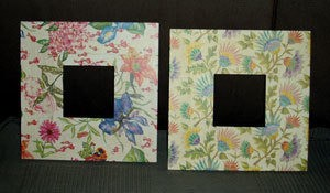 Two floral mirrors.