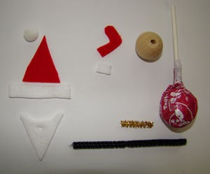 Tootsie Pop Santa Supplies