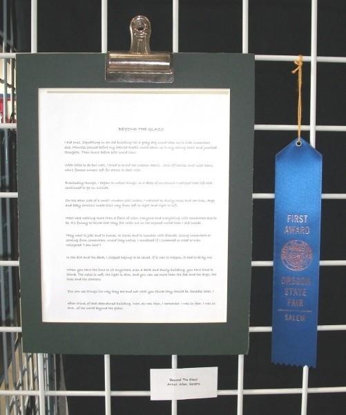 Blue Ribbon At The State Fair