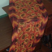 Fall color table runner.