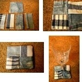 Quilted coasters.